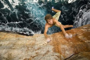 rock climbing / deep water soloing in Mallorca, Spain.